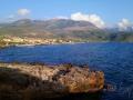 Agios Nikolaos a Taygetos v oblakoch.