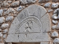 Areopoli, kamenná doska na stene kostola