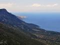 Cesta ponad pobrežie za Leonidiom