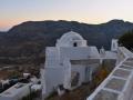 Kostol Ieros Naos po západe slnka, Kastro, Serifos