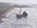 Vrak lode Dimitrios naopak v rannom opare