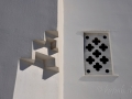Tinos - dediny, architektonický detail kostola v Ktikadose