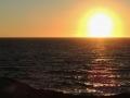 Pláže - Limnionas, slnko zapadá do mora