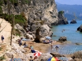 Na pláži Mirtiotissa, Korfu