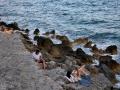 Monemvasia, vstup do mora