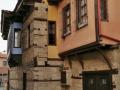 Edessa, typická macedónska architektúra v uličke Varosi.