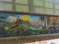 Edessa - maľba ba budove pri parku Kioupri