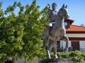 Pella, socha Alexandra Veľkého a jeho obľúbeného koňa Boukefalosa