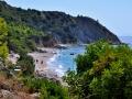 Pláž pod kláštorom Sision, Kefalónia