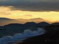 Argolida, pláž Kantia po západe slnka