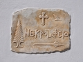 Pyrgos, Tinos, ukazovateľ k cintorínu