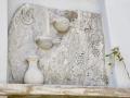 Tinos - dediny, Aetofolia, detail steny domu