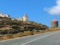 ostrov Tinos - zrenovovaný mlyn pri kláštore Panagia Katapolianis