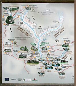 Zagori - mapa mostov