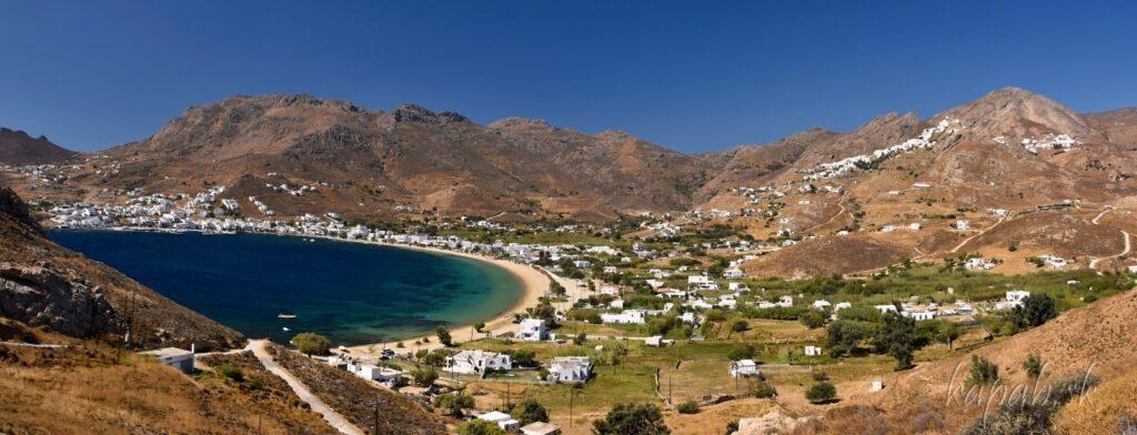 Ostrov Serifos, Livada, pláž Avlomonas a Chora Livad
