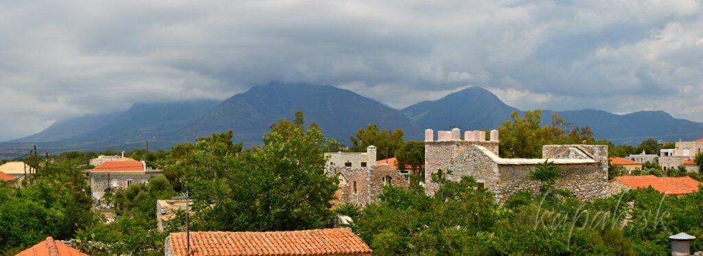 Areopoli, pohľad na Taygetos
